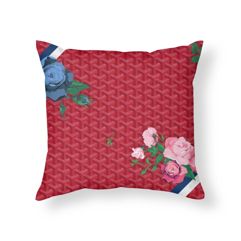 Jardin Goyard (Rouge) Home Throw Pillow by FWMJ's Shop