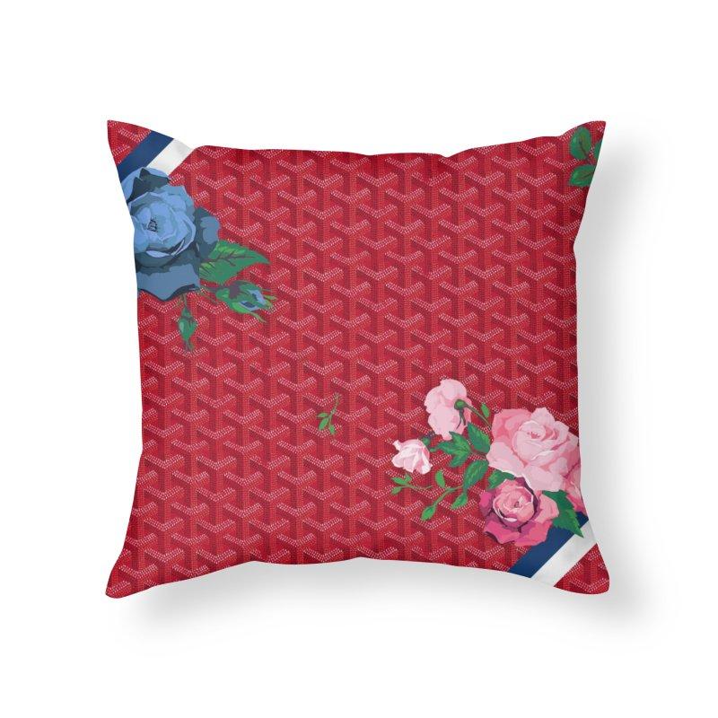 Jardin Goyard (Rouge) Home Throw Pillow by FWMJ's Shop