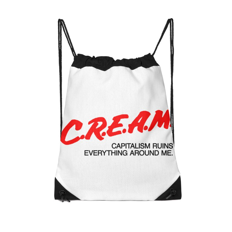 Capitalism Ruins Everything Around Me Accessories Drawstring Bag Bag by FWMJ's Shop
