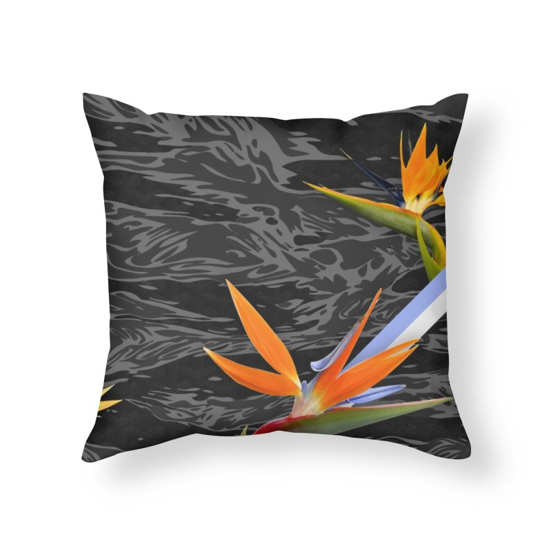 Tigers & Paradise (Shadow) Home Throw Pillow by FWMJ's Shop