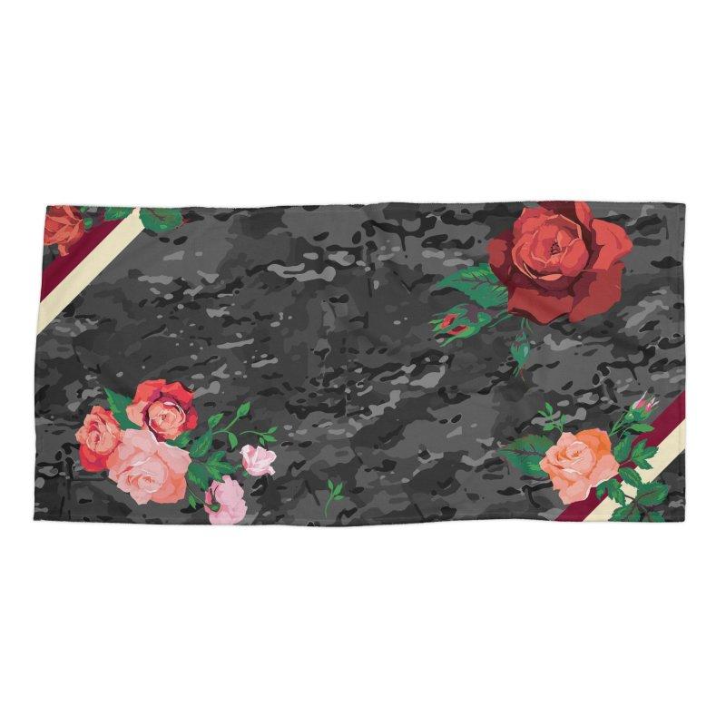 Florals & MultiCAM (Shadow) Accessories Beach Towel by FWMJ's Shop