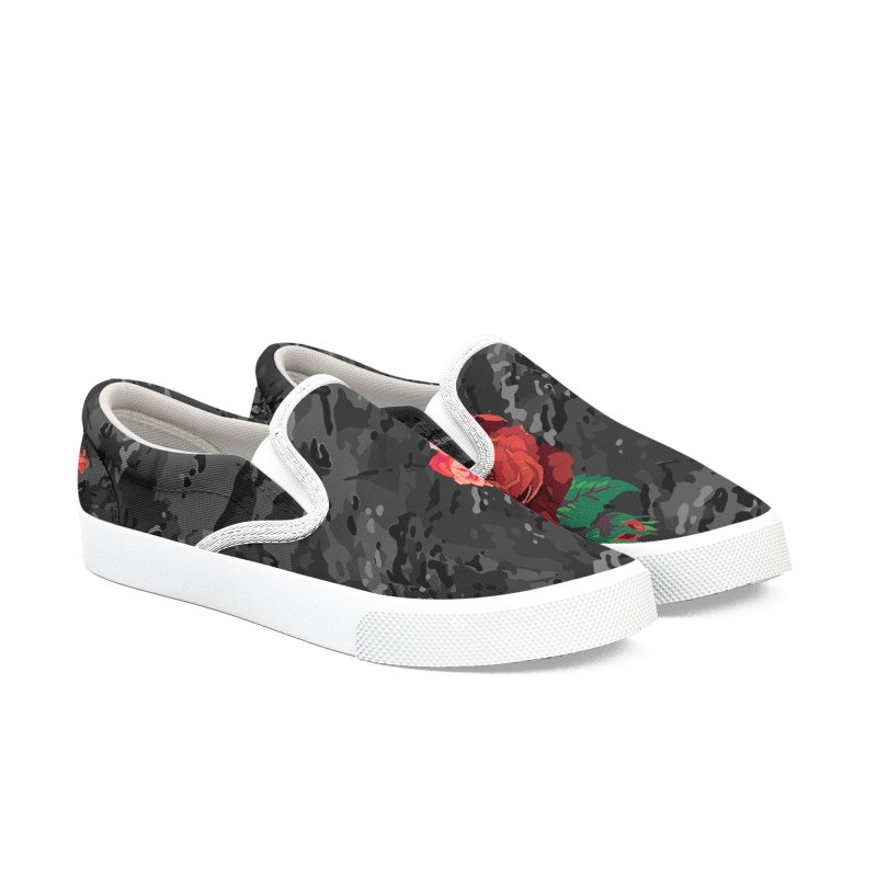 Florals & MultiCAM (Shadow) Women's Slip-On Shoes by FWMJ's Shop