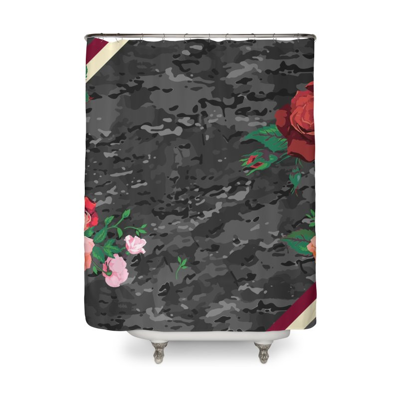 Florals & MultiCAM (Shadow) Home Shower Curtain by FWMJ's Shop