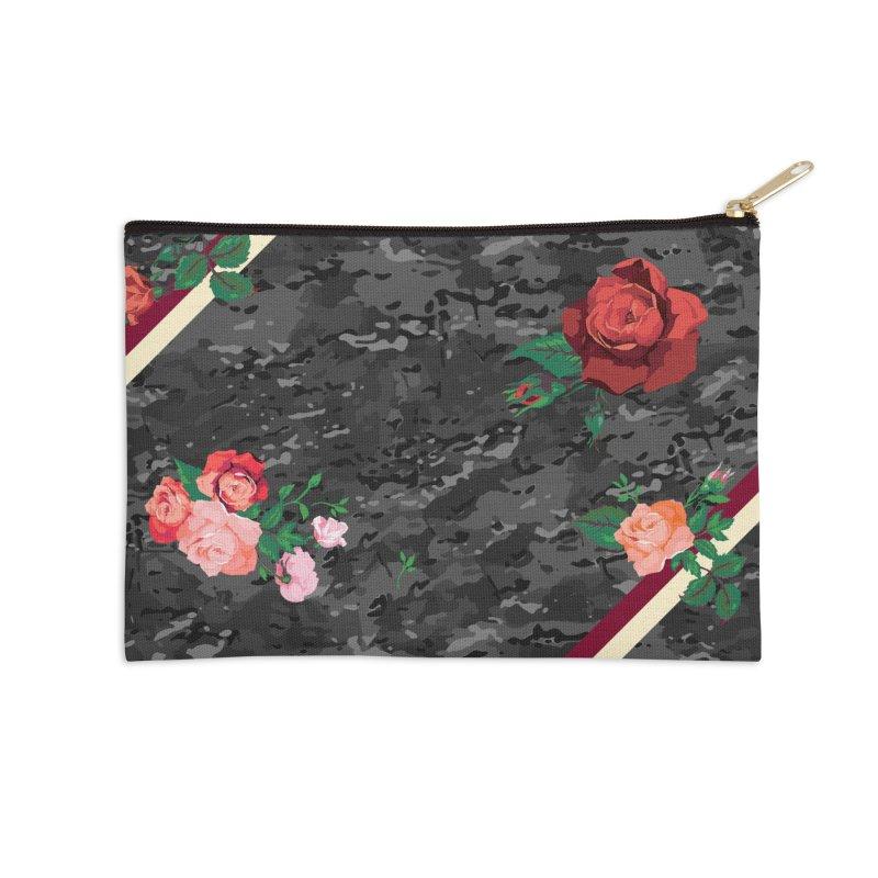 Florals & MultiCAM (Shadow) Accessories Zip Pouch by FWMJ's Shop