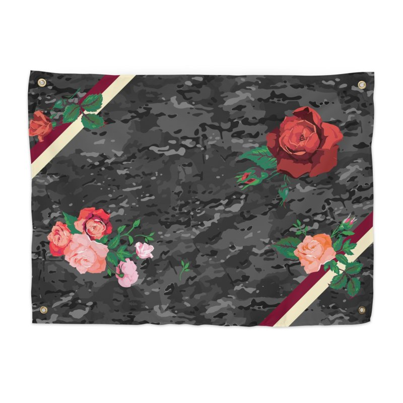 Florals & MultiCAM (Shadow) Home Tapestry by FWMJ's Shop