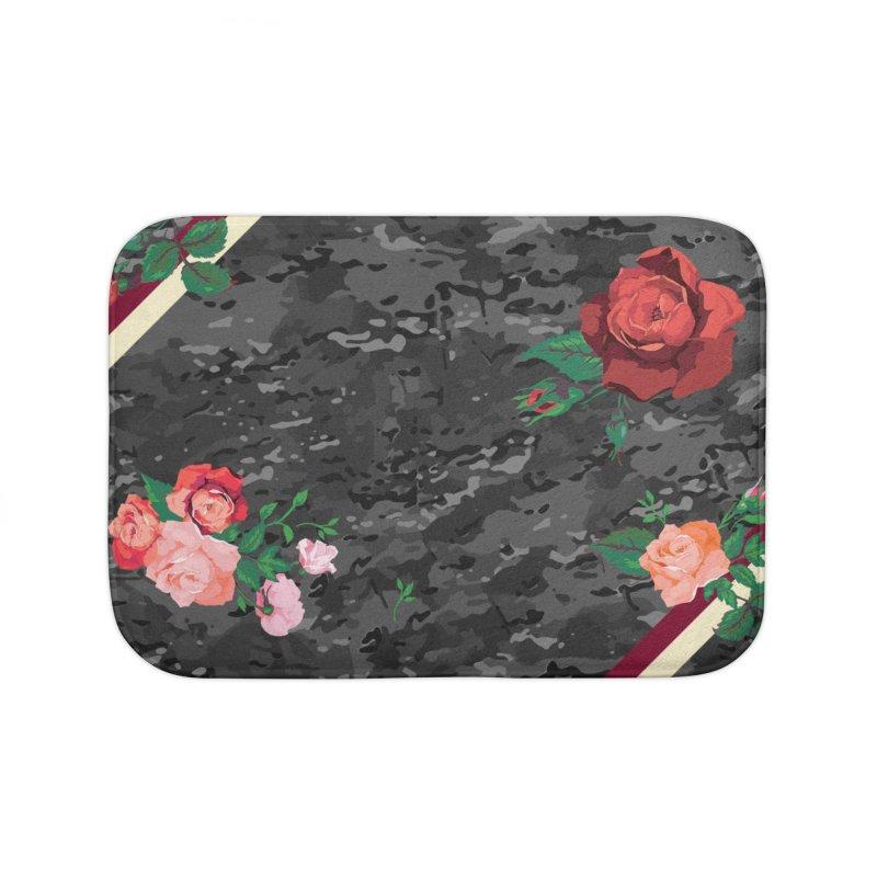 Florals & MultiCAM (Shadow) Home Bath Mat by FWMJ's Shop