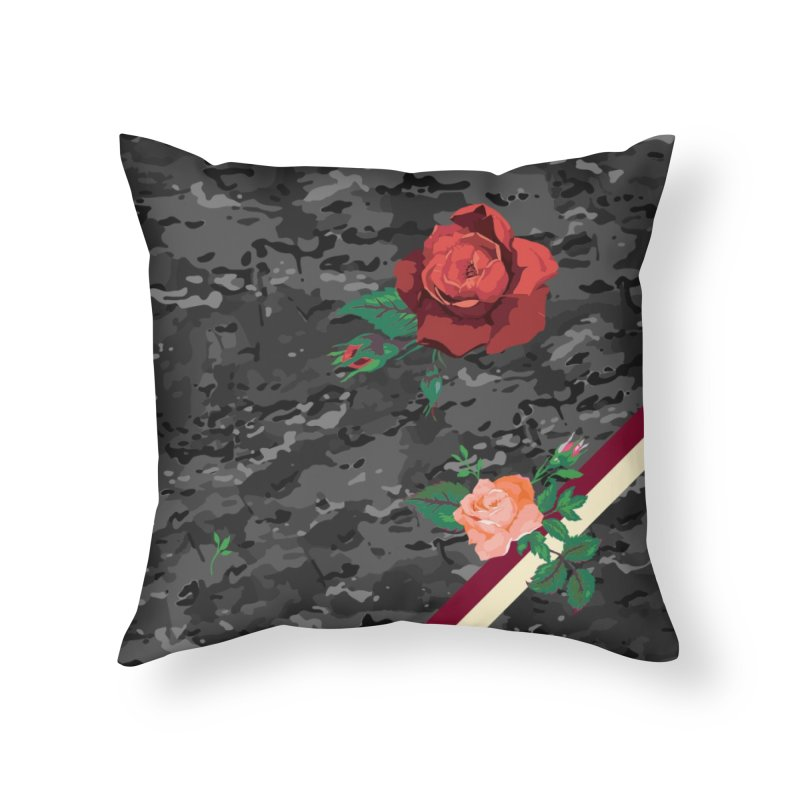 Florals & MultiCAM (Shadow) Home Throw Pillow by FWMJ's Shop