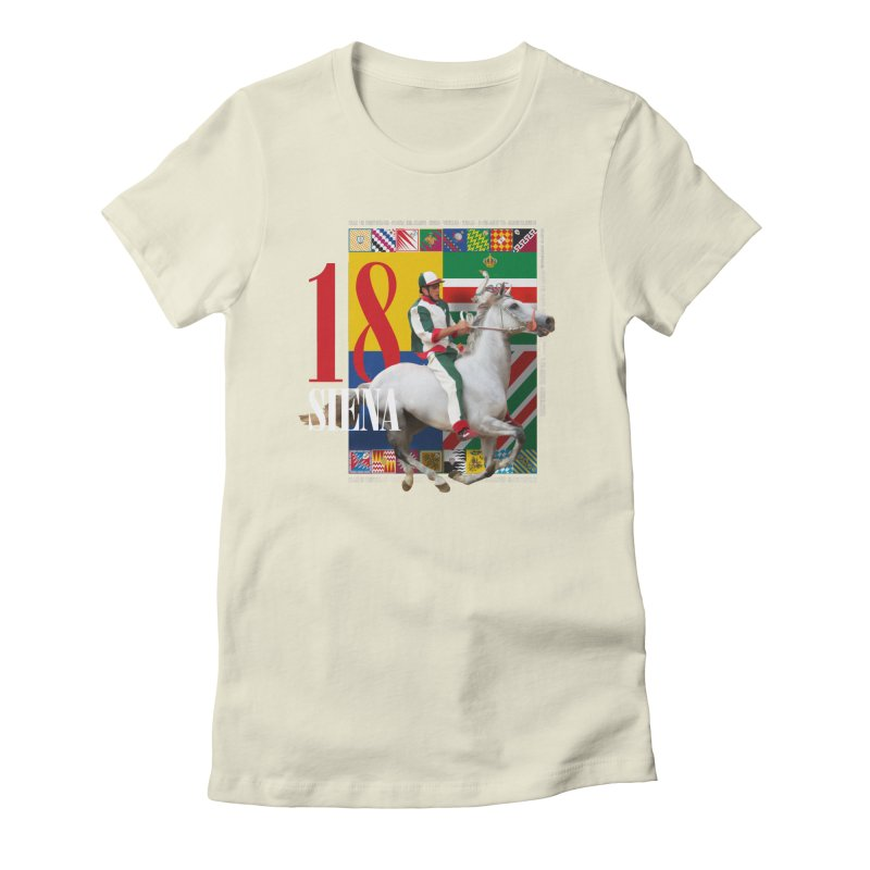 Palio di Siena № 2 Women's Fitted T-Shirt by FWMJ's Shop