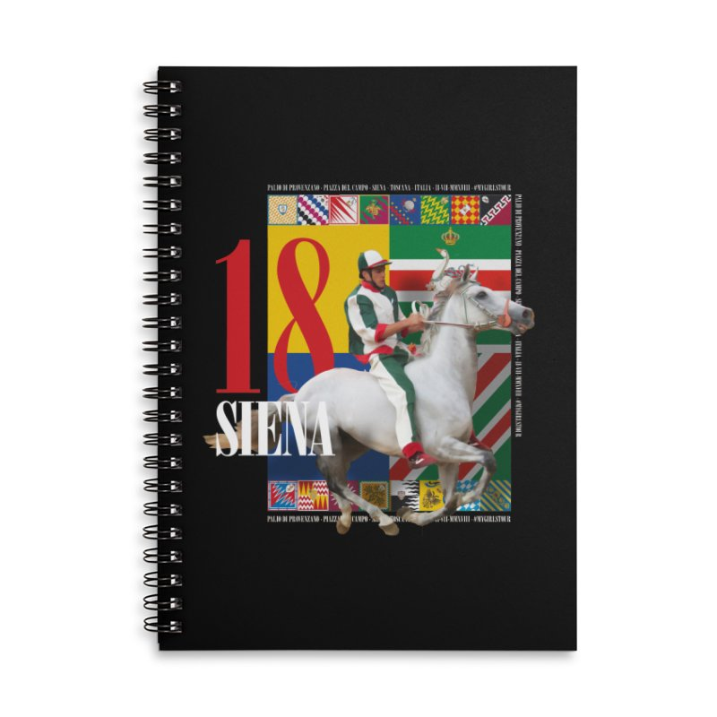 Palio di Siena № 2 Accessories Lined Spiral Notebook by FWMJ's Shop