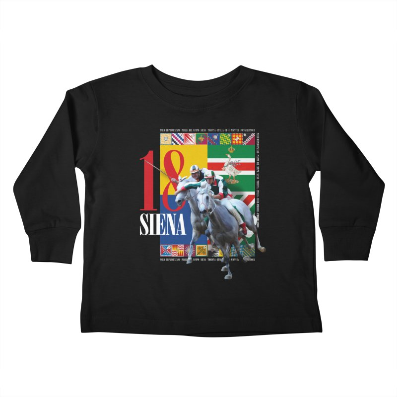 Palio di Siena № 1 Kids Toddler Longsleeve T-Shirt by FWMJ's Shop