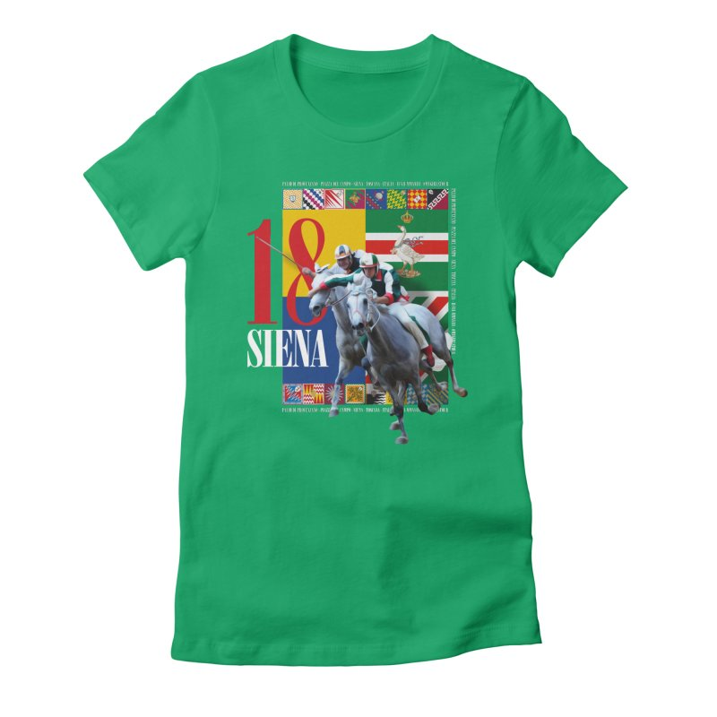 Palio di Siena № 1 Women's Fitted T-Shirt by FWMJ's Shop