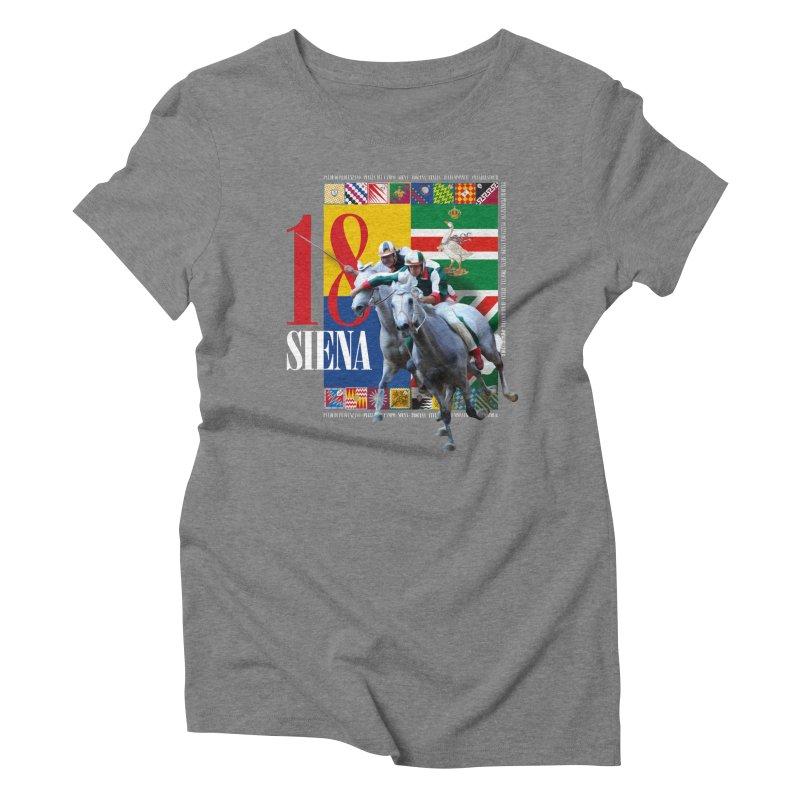 Palio di Siena № 1 Women's Triblend T-Shirt by FWMJ's Shop