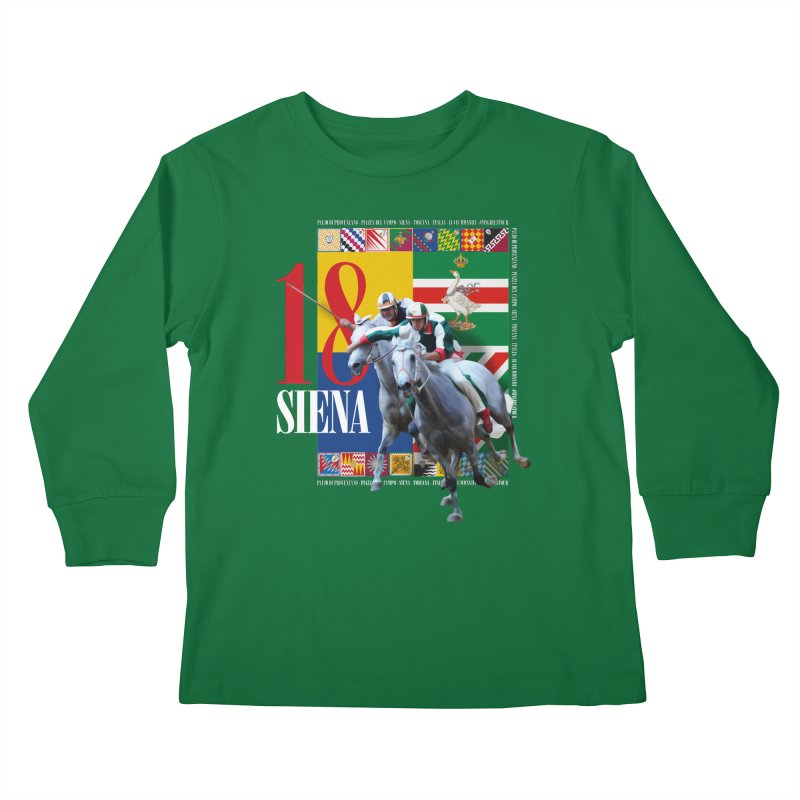 Palio di Siena № 1 Kids Longsleeve T-Shirt by FWMJ's Shop