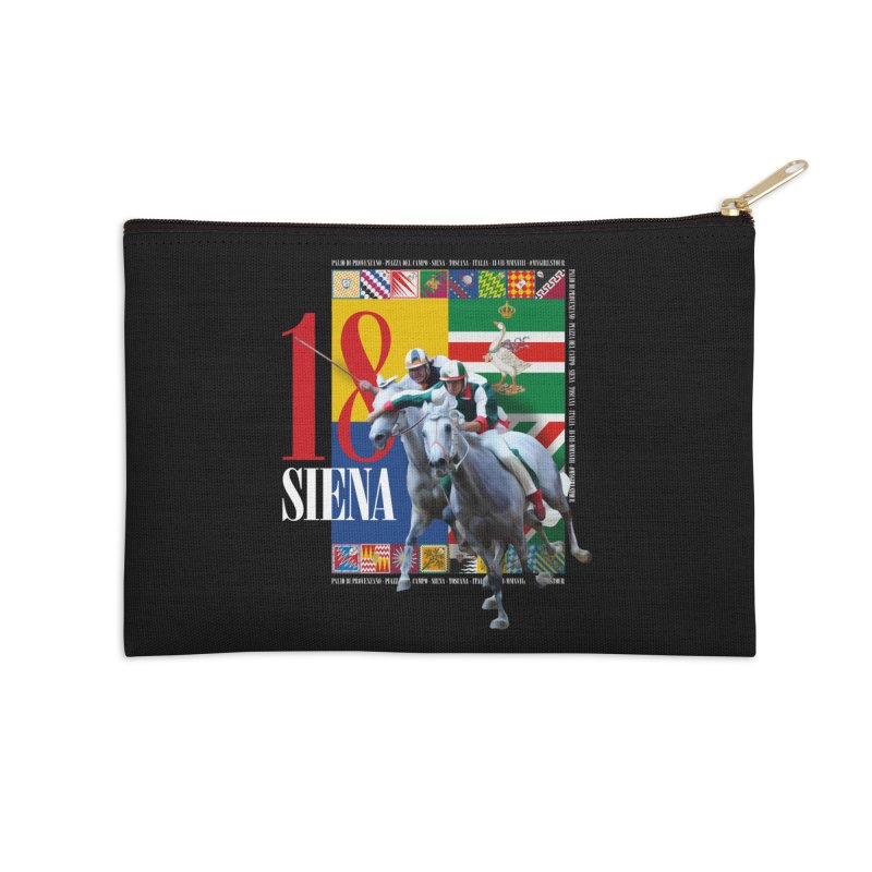 Palio di Siena № 1 Accessories Zip Pouch by FWMJ's Shop
