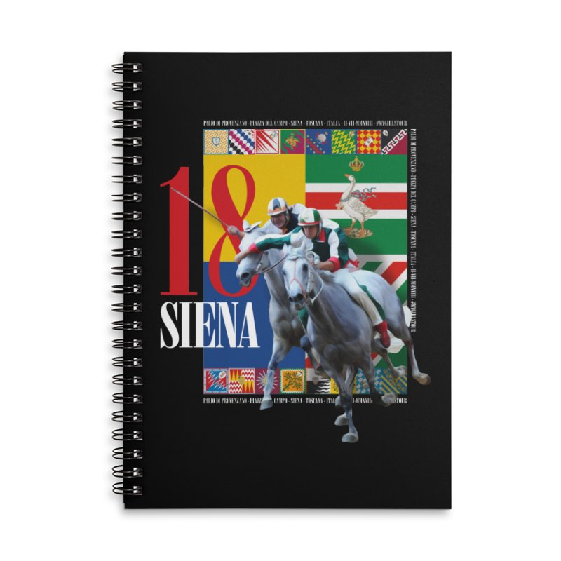 Palio di Siena № 1 Accessories Lined Spiral Notebook by FWMJ's Shop