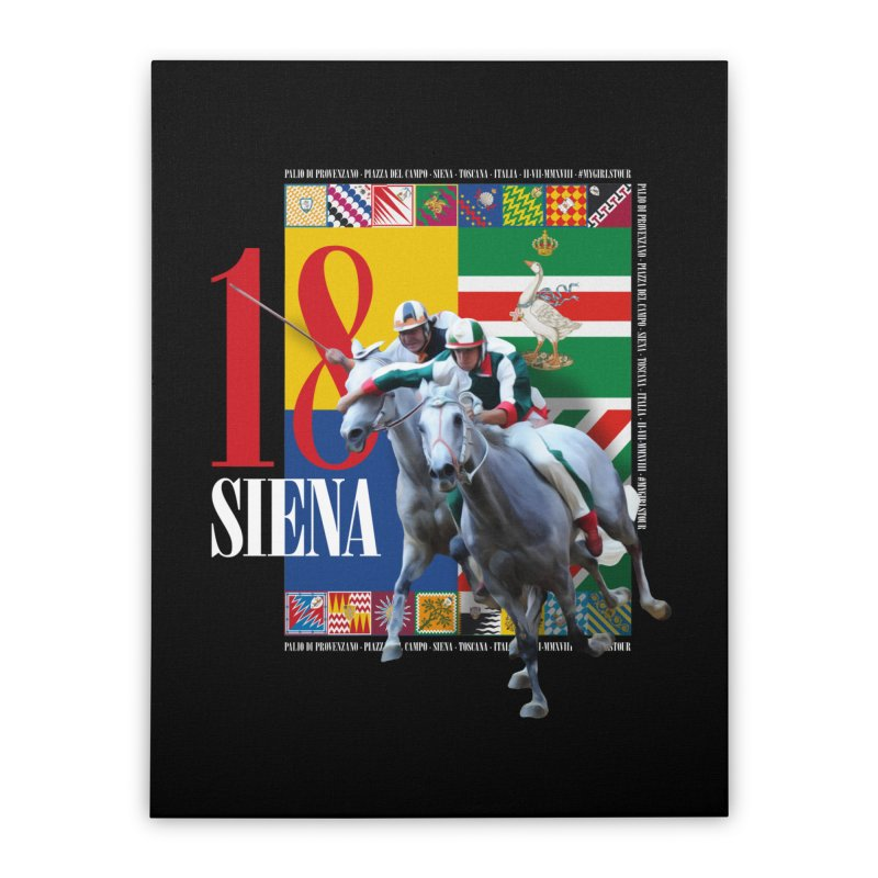Palio di Siena № 1 Home Stretched Canvas by FWMJ's Shop