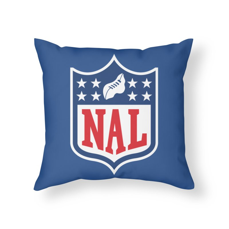 National Anthem League Home Throw Pillow by FWMJ's Shop