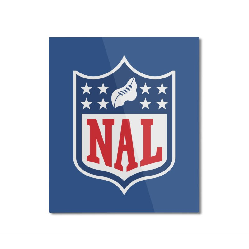National Anthem League Home Mounted Aluminum Print by FWMJ's Shop