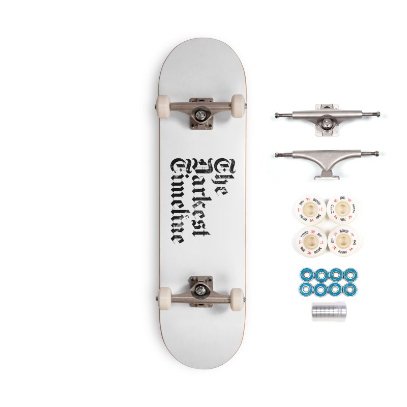 We Are In The Darkest Timeline (White) Accessories Skateboard by FWMJ's Shop