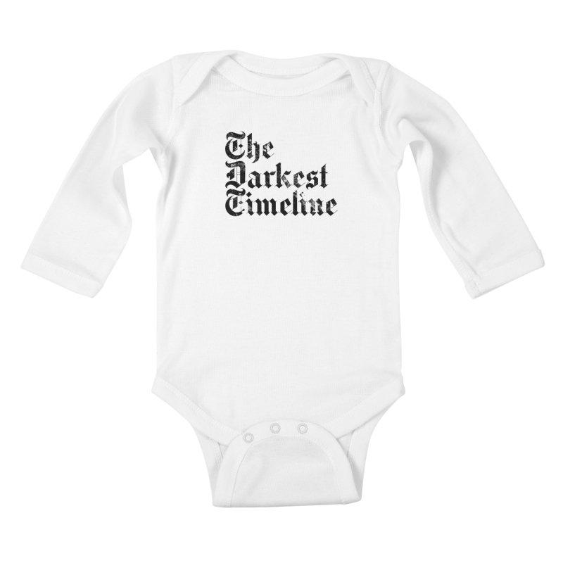 We Are In The Darkest Timeline (White) Kids Baby Longsleeve Bodysuit by FWMJ's Shop