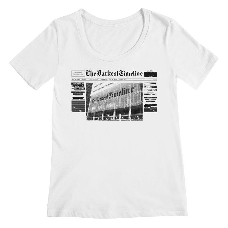 The Darkest Timeline (Above The Fold) Women's Scoop Neck by FWMJ's Shop