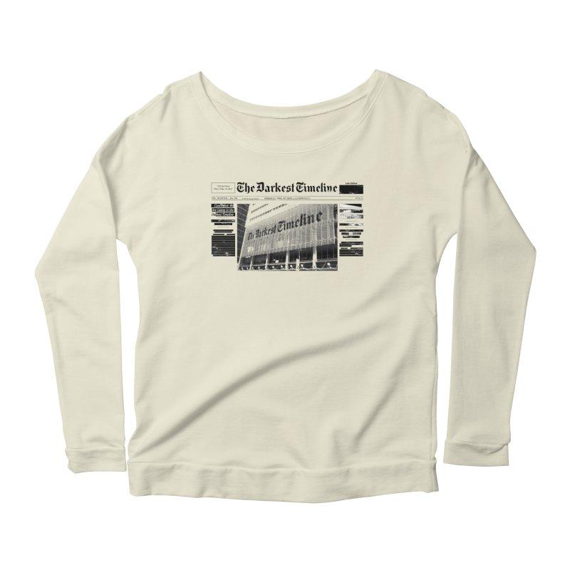 The Darkest Timeline (Above The Fold) Women's Scoop Neck Longsleeve T-Shirt by FWMJ's Shop