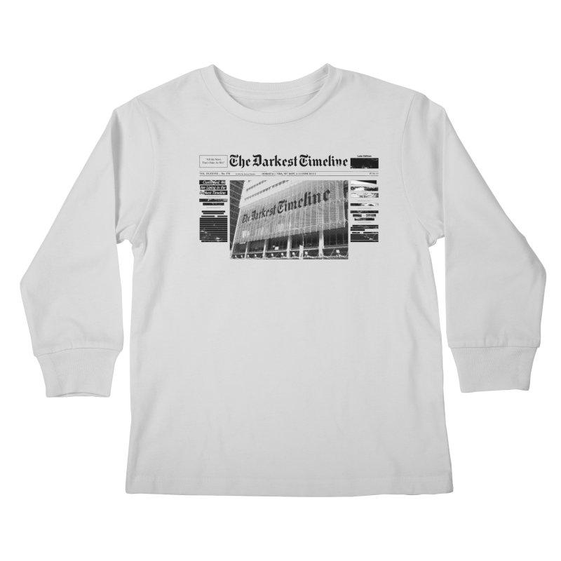 The Darkest Timeline (Above The Fold) Kids Longsleeve T-Shirt by FWMJ's Shop