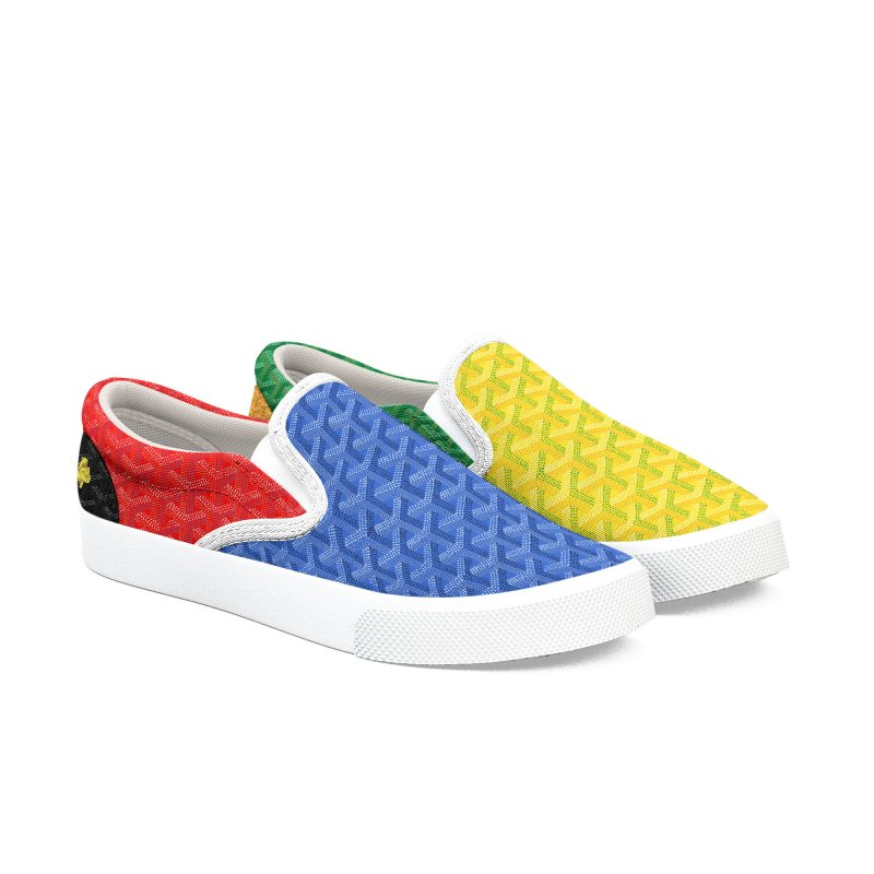 Jardin Goyard (Spectrum) Men's Slip-On Shoes by FWMJ's Shop