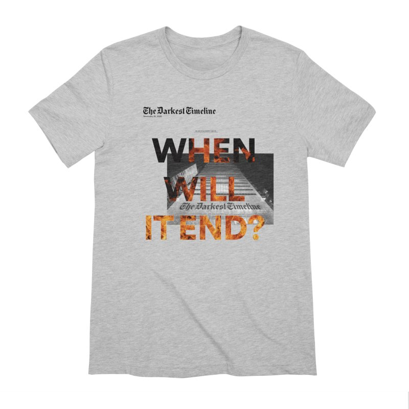 The Darkest Timeline (Read All About It) Men's Extra Soft T-Shirt by FWMJ's Shop