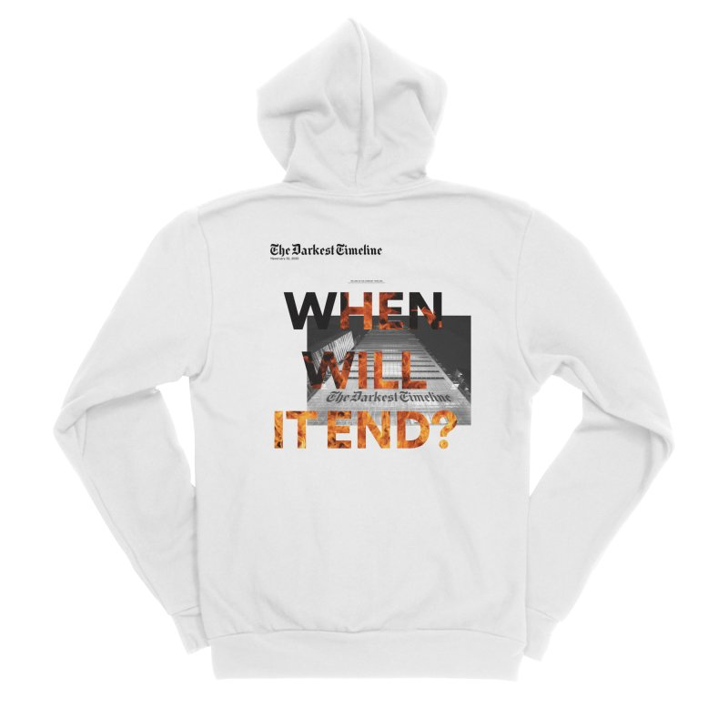 The Darkest Timeline (Read All About It) Women's Sponge Fleece Zip-Up Hoody by FWMJ's Shop