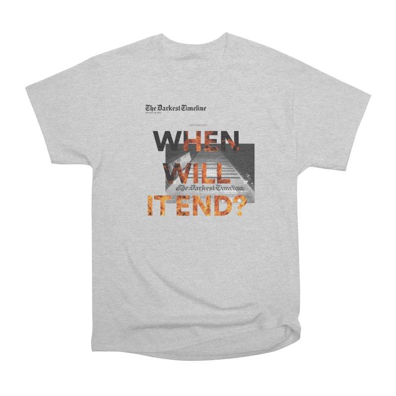 The Darkest Timeline (Read All About It) Men's Heavyweight T-Shirt by FWMJ's Shop