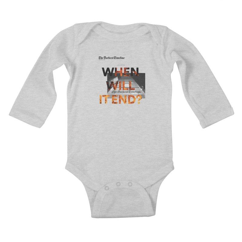 The Darkest Timeline (Read All About It) Kids Baby Longsleeve Bodysuit by FWMJ's Shop