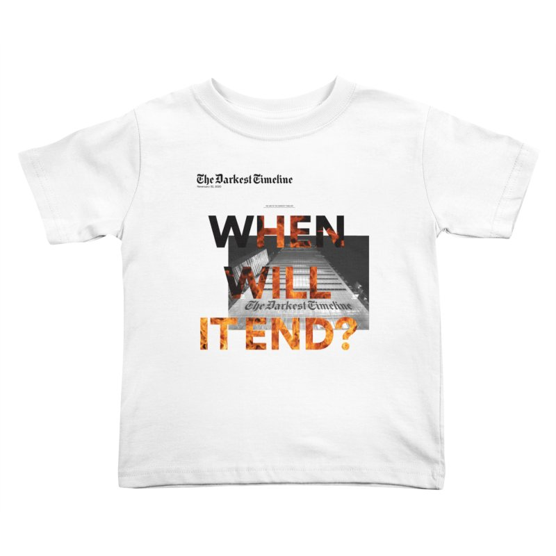The Darkest Timeline (Read All About It) Kids Toddler T-Shirt by FWMJ's Shop
