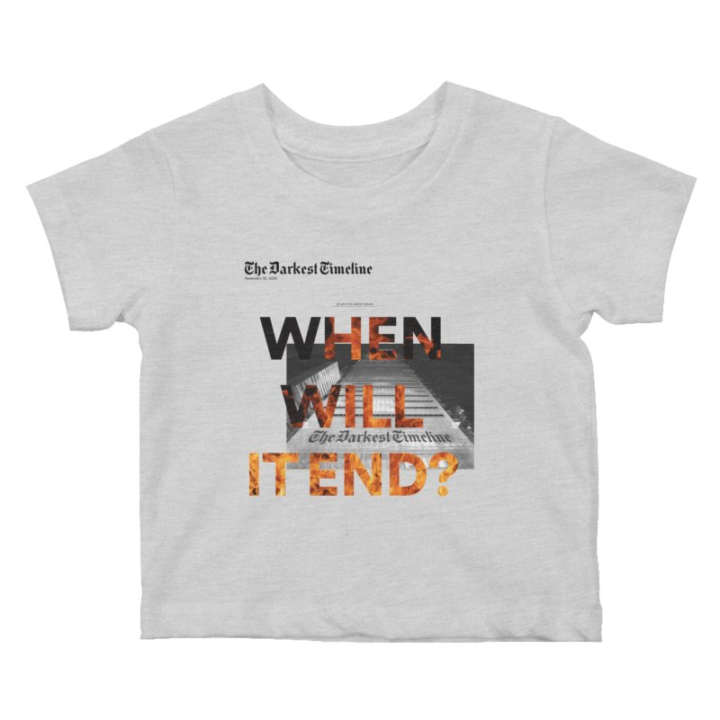 The Darkest Timeline (Read All About It) Kids Baby T-Shirt by FWMJ's Shop