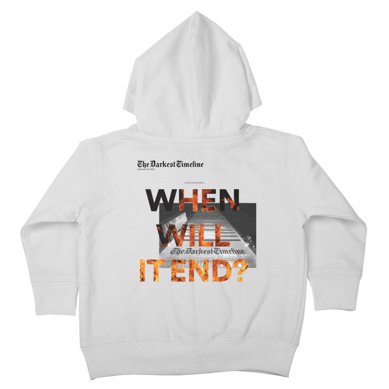 The Darkest Timeline (Read All About It) Kids Toddler Zip-Up Hoody by FWMJ's Shop