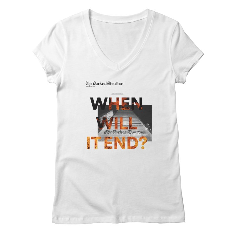 The Darkest Timeline (Read All About It) Women's V-Neck by FWMJ's Shop