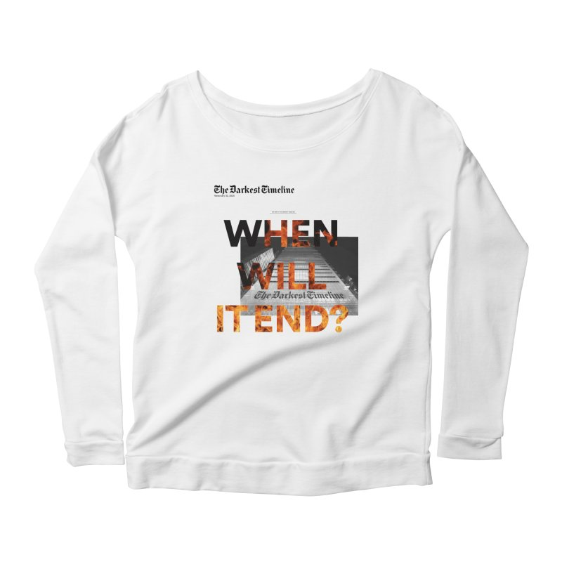 The Darkest Timeline (Read All About It) Women's Scoop Neck Longsleeve T-Shirt by FWMJ's Shop