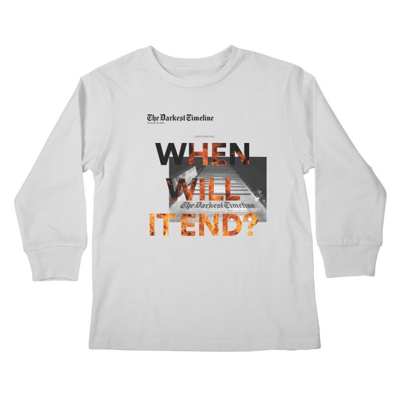 The Darkest Timeline (Read All About It) Kids Longsleeve T-Shirt by FWMJ's Shop