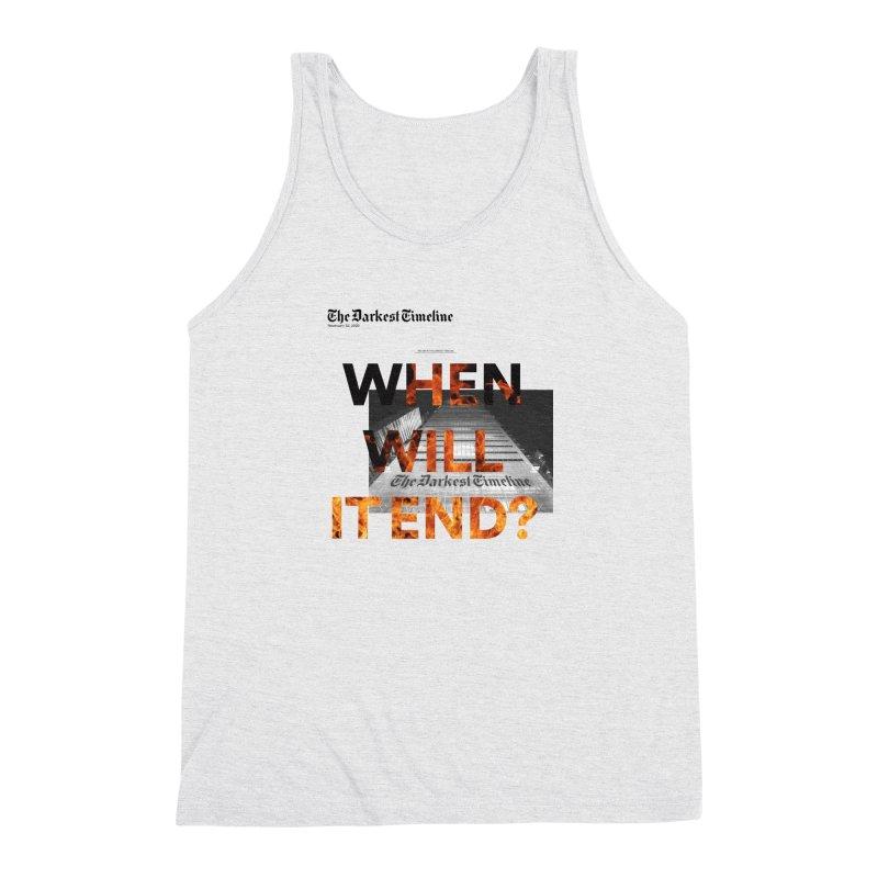 The Darkest Timeline (Read All About It) Men's Triblend Tank by FWMJ's Shop