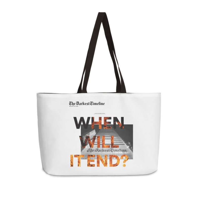 The Darkest Timeline (Read All About It) Accessories Bag by FWMJ's Shop