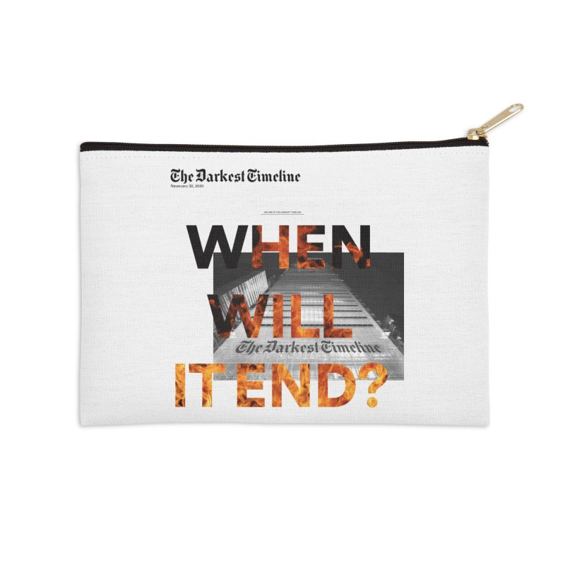 The Darkest Timeline (Read All About It) Accessories Zip Pouch by FWMJ's Shop