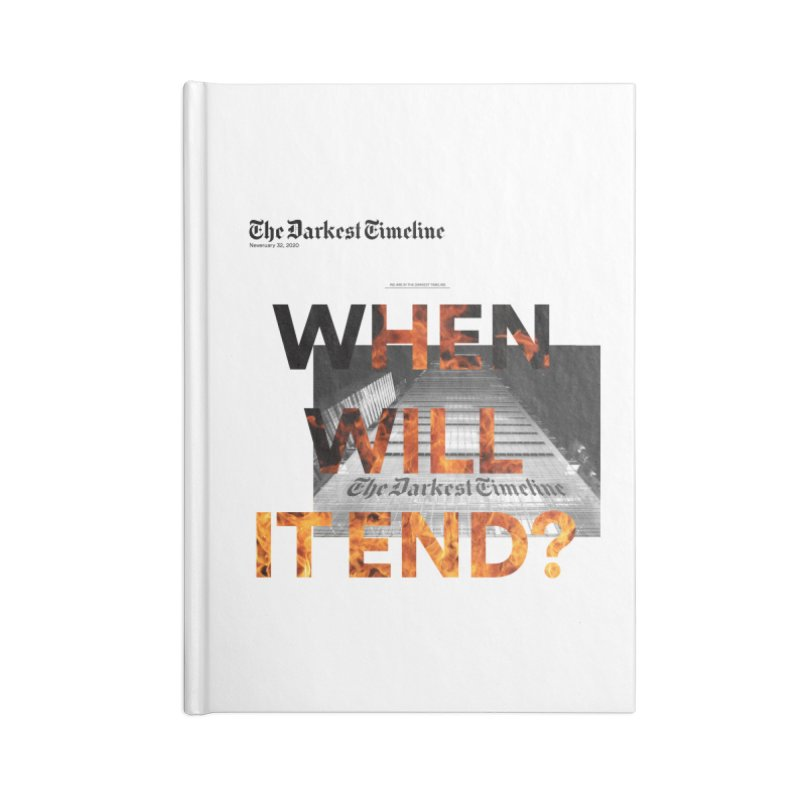 The Darkest Timeline (Read All About It) Accessories Lined Journal Notebook by FWMJ's Shop