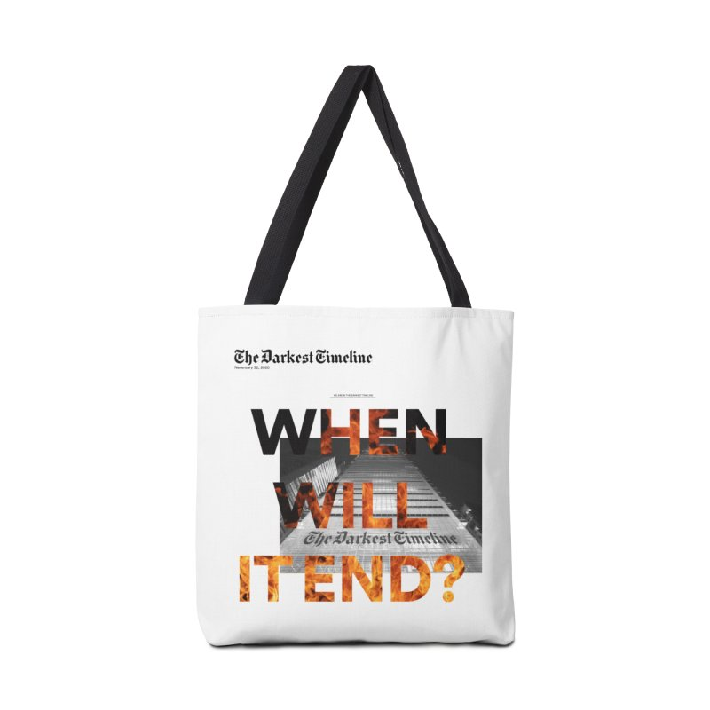 The Darkest Timeline (Read All About It) Accessories Tote Bag Bag by FWMJ's Shop
