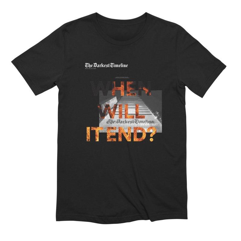 The Darkest Timeline (Read All About It) Men's T-Shirt by FWMJ's Shop