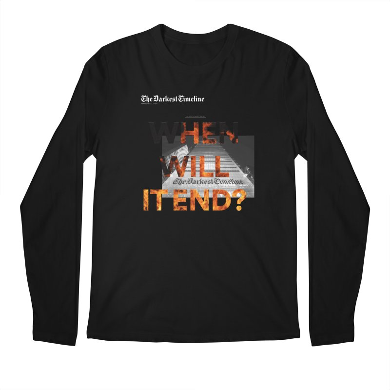 The Darkest Timeline (Read All About It) Men's Regular Longsleeve T-Shirt by FWMJ's Shop