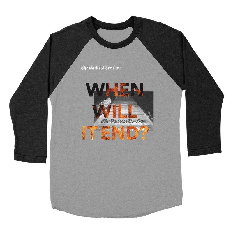 The Darkest Timeline (Read All About It) Women's Baseball Triblend Longsleeve T-Shirt by FWMJ's Shop