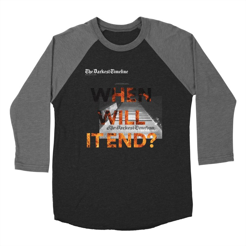 The Darkest Timeline (Read All About It) Men's Baseball Triblend Longsleeve T-Shirt by FWMJ's Shop