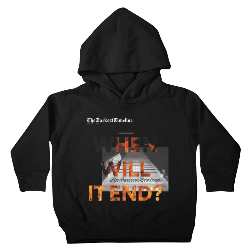 The Darkest Timeline (Read All About It) Kids Toddler Pullover Hoody by FWMJ's Shop