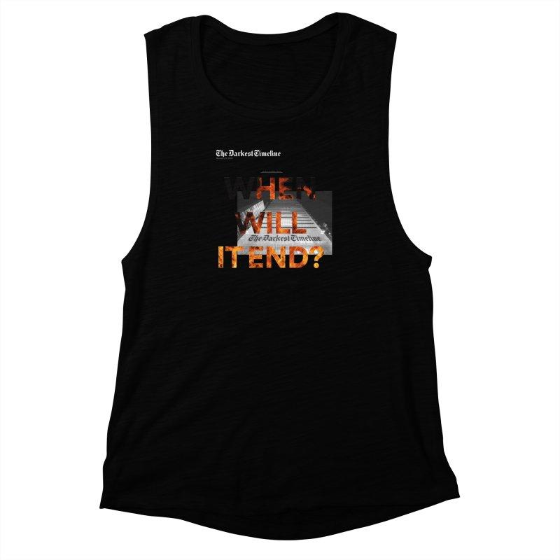 The Darkest Timeline (Read All About It) Women's Muscle Tank by FWMJ's Shop