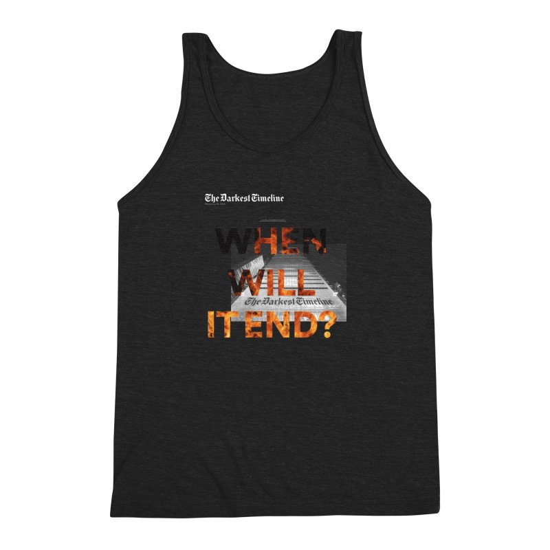 The Darkest Timeline (Read All About It) Men's Triblend Tank by FWMJ's Shop